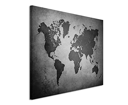 Canvas print 50 x 70 cm black white top quality old world map canvas print 50 x 70 cm black white top quality old world map gumiabroncs Choice Image