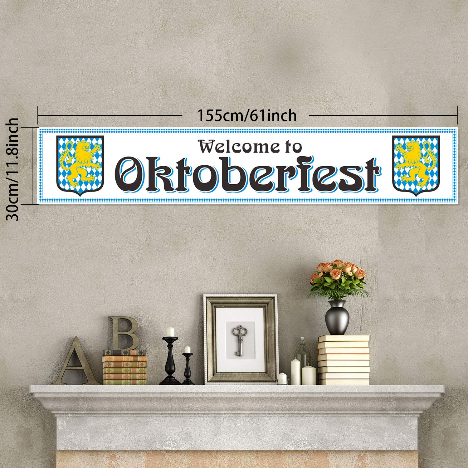 Oktoberfest Decorations Beer Banner Oktoberfest Background Banner Oktoberfest Backdrop Photo Booth Wall Party Decor for Oktoberfest Party Supplies