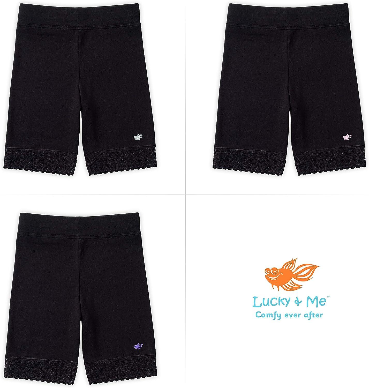 Soft Cotton Tagless Jada Girls Bike Shorts 3 Pack Underwear Lace Trim