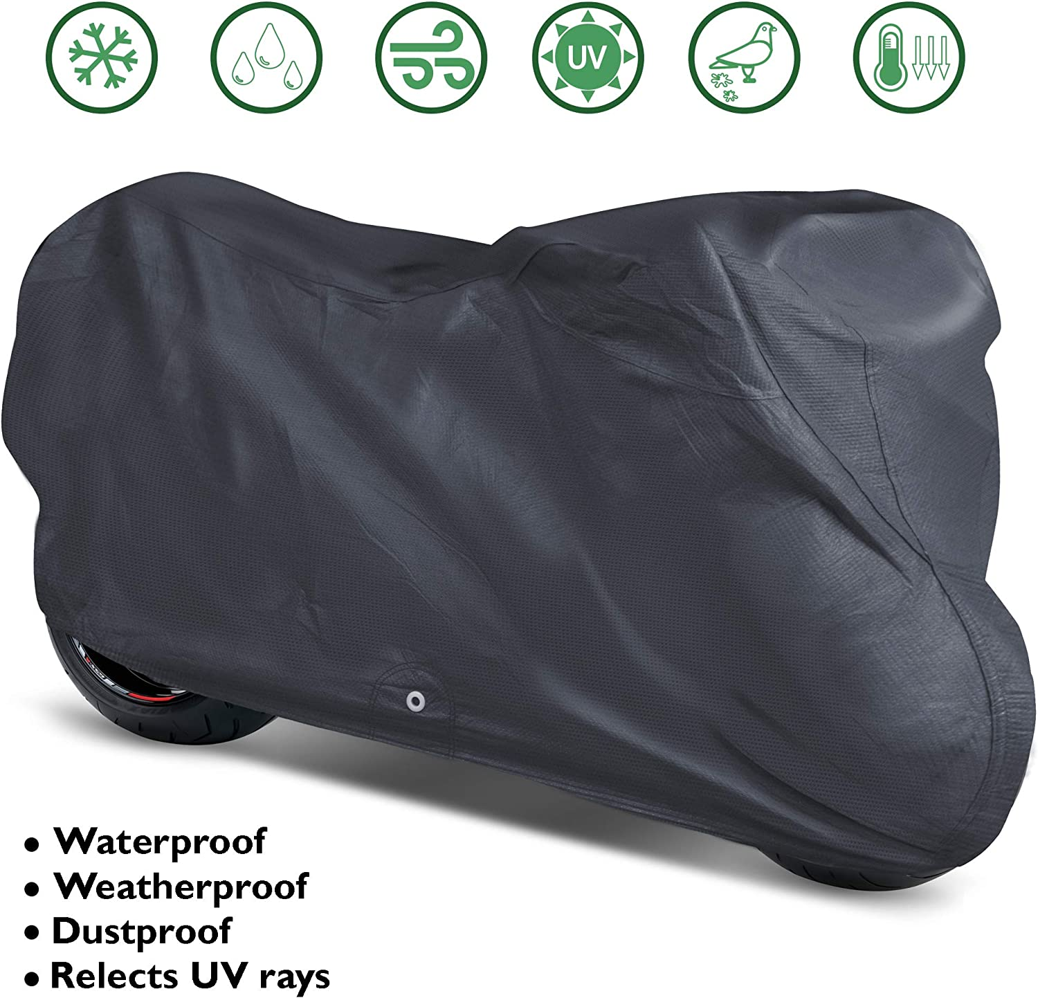 OxGord Signature Motorcycle Cover - 100% Water-Proof 5 Layers - Ready-Fit / Semi Custom - Fits up to 111 Inches