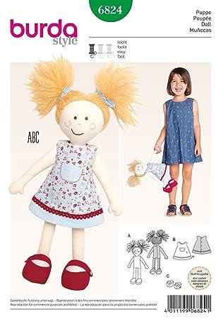 Burda Schnittmuster 6824 – Puppe Plüschtiere & Puppen Kleidung ...