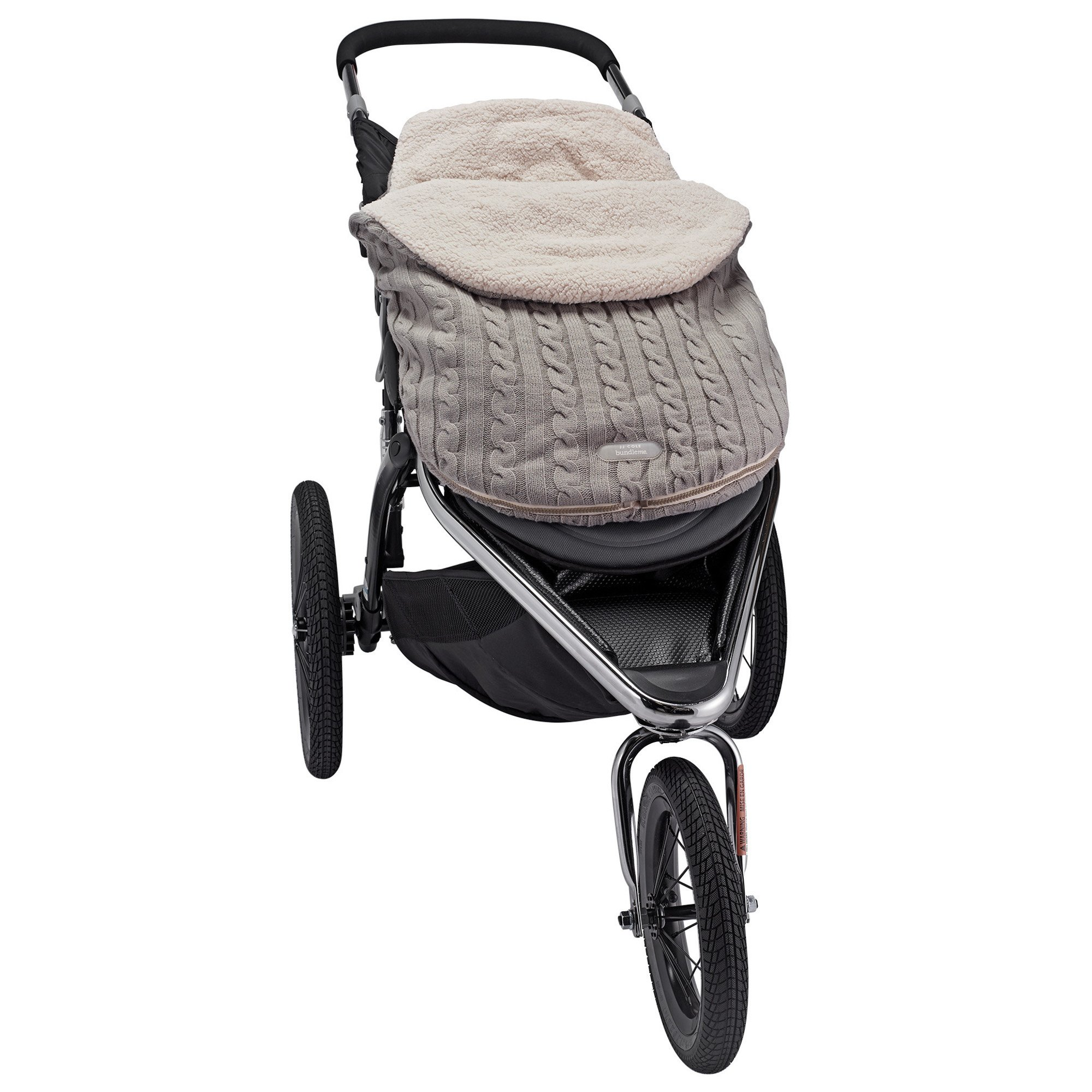 JJ Cole - Knit Bundleme Set, Blanket Cover to Protect Baby from Cold Weather with Car Seats and Strollers, Graphite, Birth to 1 Year by JJ Cole (Image #4)