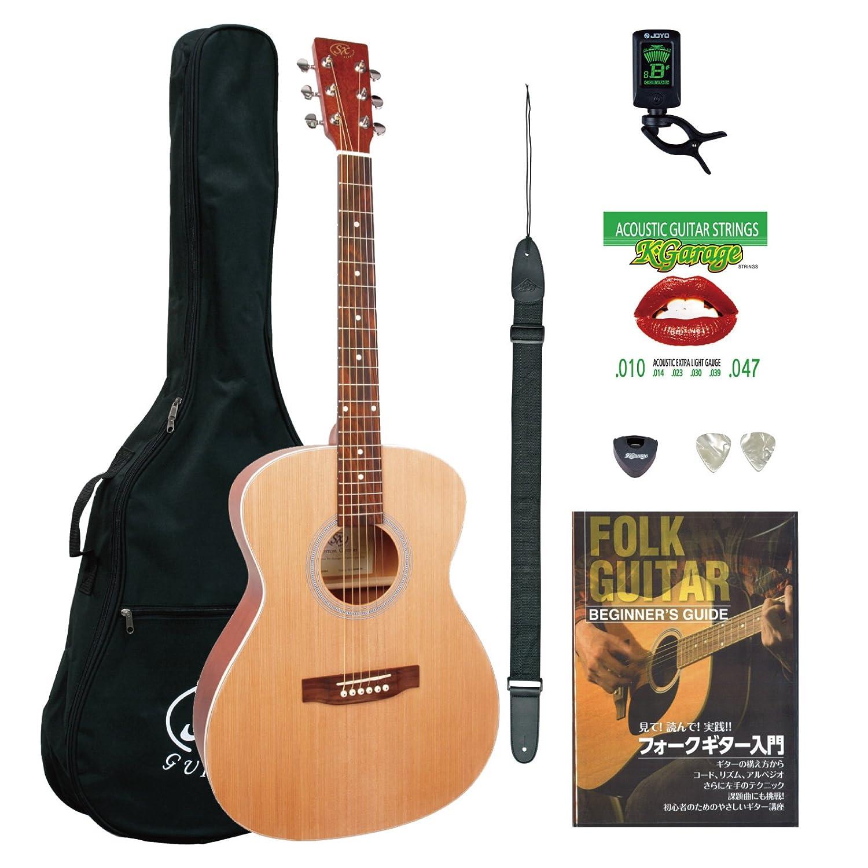 SX アコースティックギター SO204 初心者入門チューナーセット ナチュラル B076BP4VJG NAT NAT