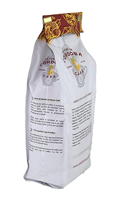 Amazon.com : Café La Flor de Cordoba Mexican Coffee - 1.1Lb (500 grams) (Espresso) : Grocery & Gourmet Food