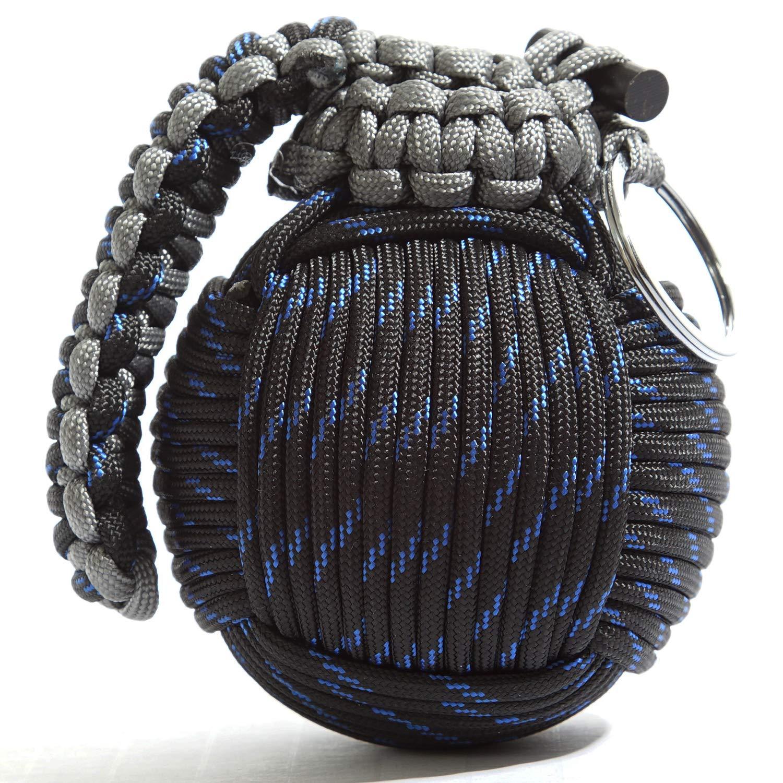 Holtzman's Survival Kit Paracord Grenade The #1 Best 48 Tool Emergency kit (Blue/Black) by Holtzman's Gorilla Survival