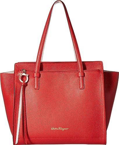 88c651b0c6 Amazon.com  Salvatore Ferragamo Women s 21F216 Amy Flame Red Jasmine Flower  One Size  Shoes