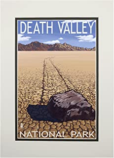 product image for Death Valley National Park, California - Moving Rocks (11x14 Double-Matted Art Print, Wall Decor Ready to Frame)