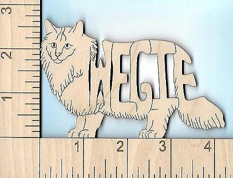 Wood Magnets Imanes de madera noruego bosque (wegie) gato – amantes de los gatos