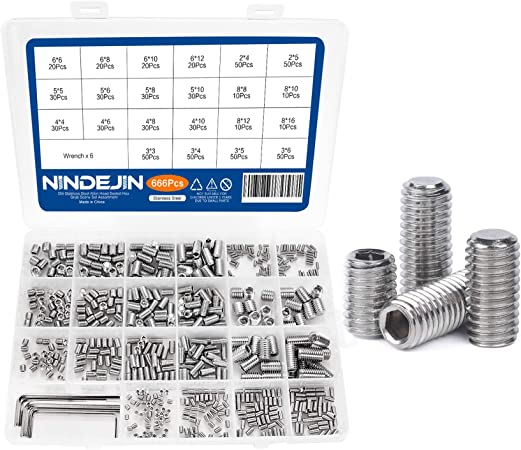240Pcs//Set Good Corrosion Resistance for 10Pcs M2 8Pcs M2 6Pcs M3 6 Pcs M2 6 Portable Hex Socket Screw Set Hexagonal Socket Screw