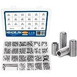 NINDEJIN 666Pcs Set Screws Assortment Kit, M2/ M3/ M4/ M5/ M6/ M8 Hex Allen Head Socket Grub Screws Set & Wrenches, Metric In