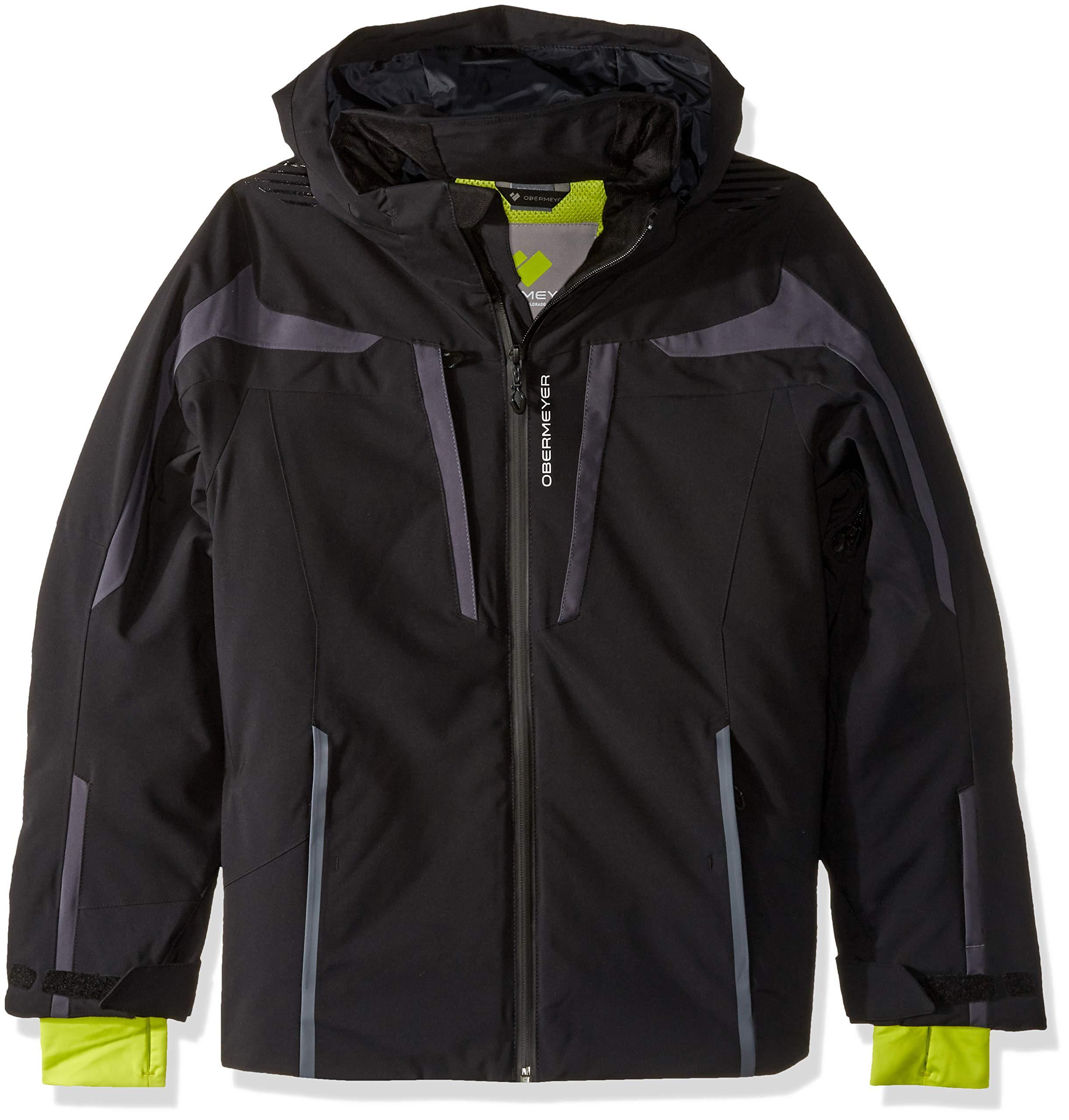 Obermeyer Kids Boy's Mach 9 Jacket (Little Kids/Big Kids) Black X-Large