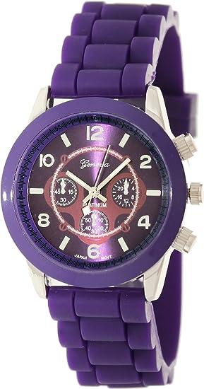 Geneva Platinum 2643.Silver.Purple Mujeres Relojes