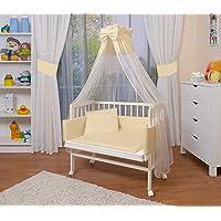 WALDIN Lit cododo berceau tout équipé pour bébé - bois non traité ou laqué blanc - 14 coloris disponibles