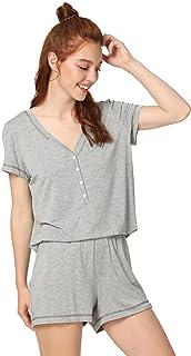 340bd783a5 Women s Sleepwear Lightweight Super Soft Bamboo Short Lace Trim ...