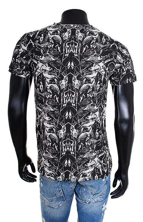 Shine Original Herren Rundhals T-Shirt Black Rebel 2-45335 schwarz Vintage  Used Look Optik: Amazon.de: Bekleidung