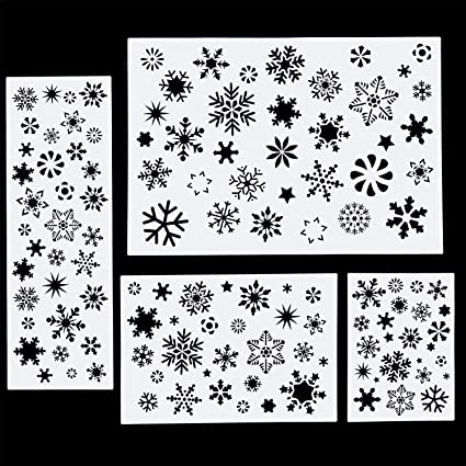 Snowflake Stencil-Re-usable**Christmas Crafts*Snowflake Template