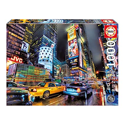 Famous Places Times Square New York 1000 pcs jigsaw puzzle: Genuine