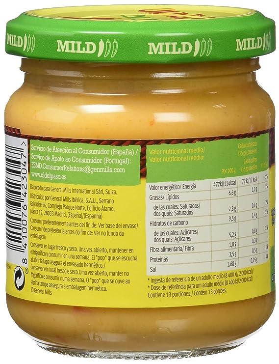 Old el paso frasco salsa de queso 200g - [Pack de 2]: Amazon.es: Alimentación y bebidas