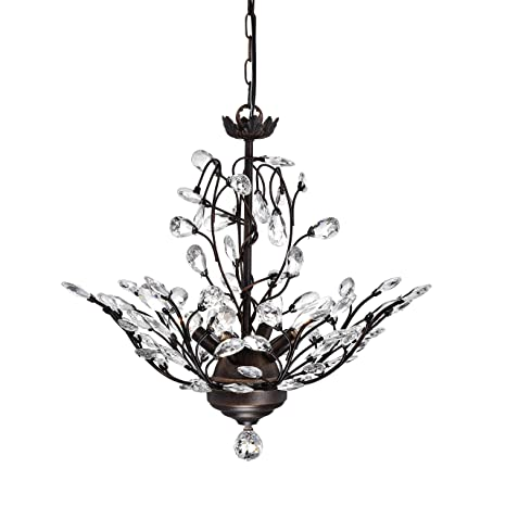 Holly 4 light antique copper crystal leaves chandelier amazon holly 4 light antique copper crystal leaves chandelier aloadofball Gallery