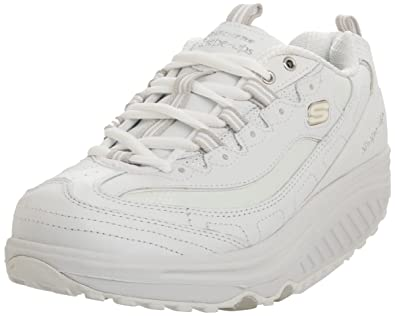 Women's Shape Ups Work Sketchers Size 8.5  White  Lace Up
