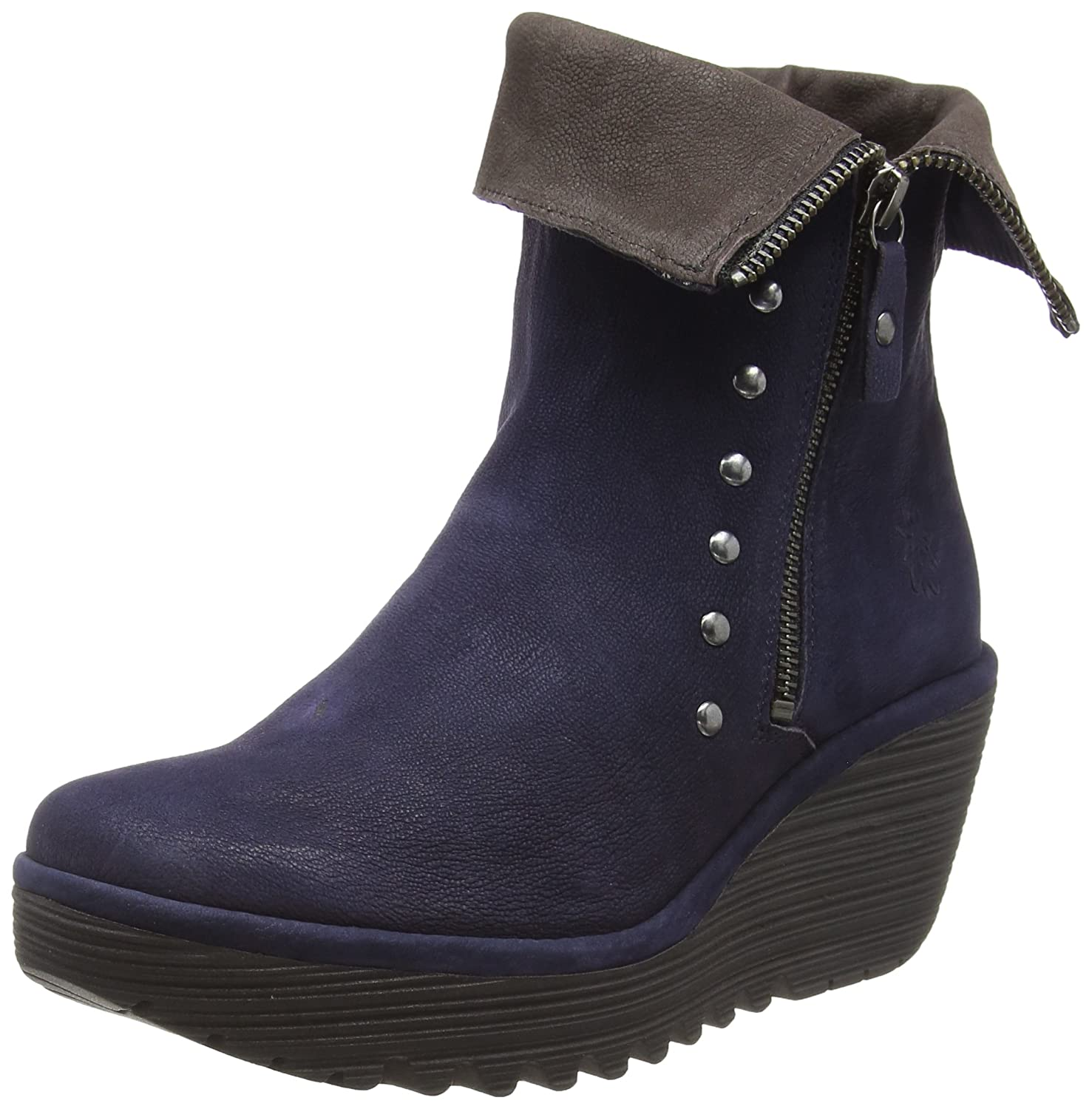 Bleu (Ocean Chocolate 002) Fly London Yemi902fly, Bottes Classiques Femme