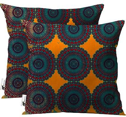 Amazon Com Handmade Decorative Boho Outdoor Throw Pillows Set Of