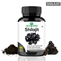 Nutriherbs Shilajeet Extracts 800 Mg 90 Capsules 100% Natural & Pure (Pack Of 1)