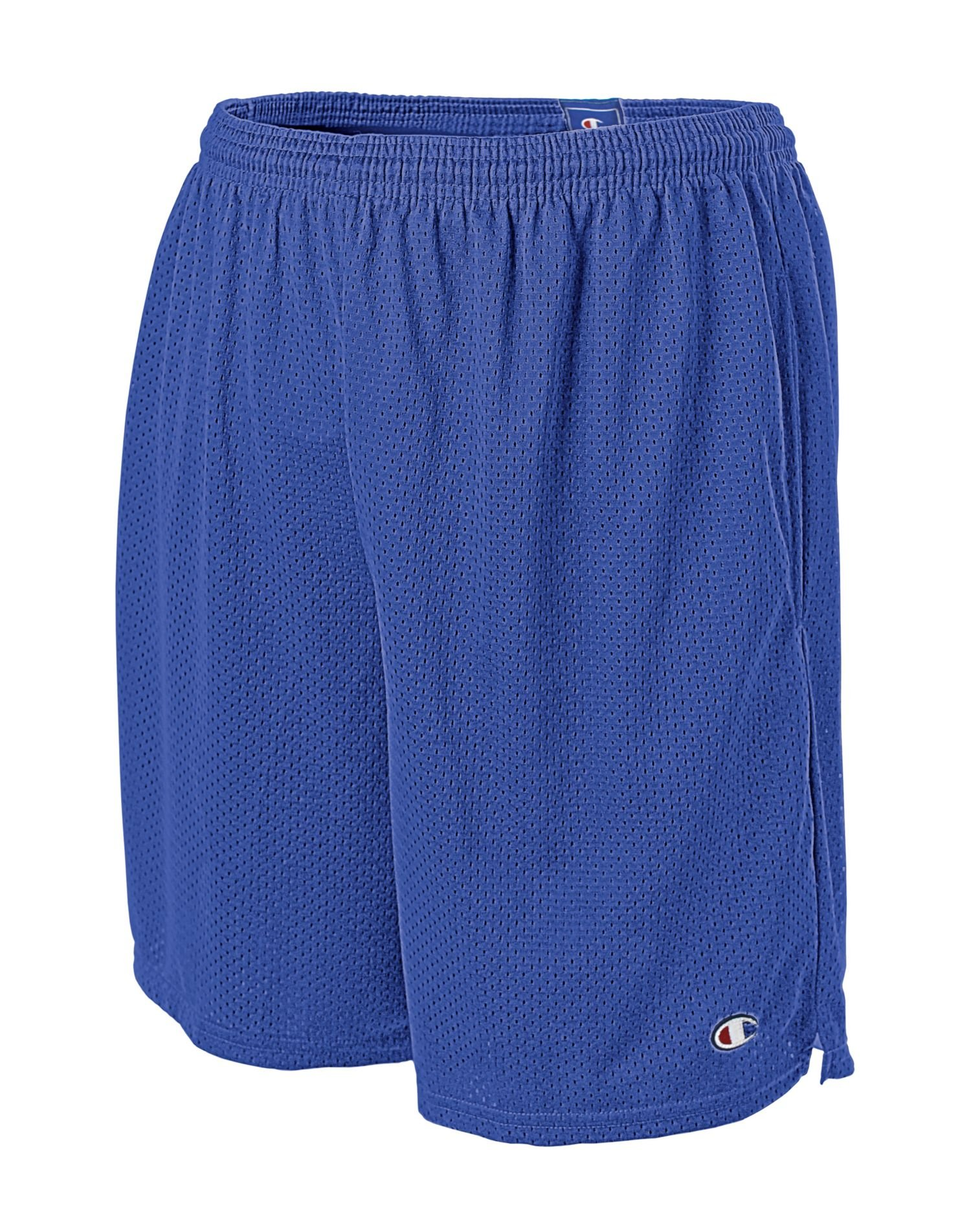 Champion Men's Long Mesh Short with Pockets, Team Blue, XXXX-Large by Champion