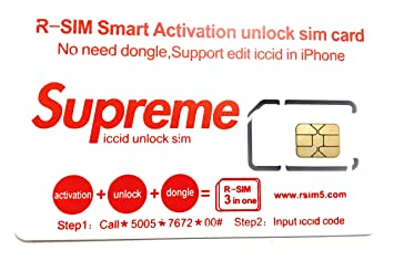 RSIM Smart Supreme ACTIVACION Unlock SIM Card: Amazon.es ...