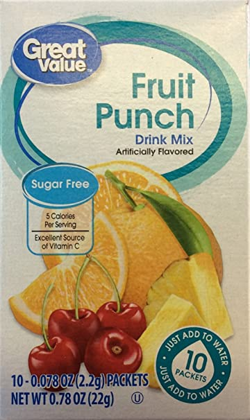 Amazon Great Value Sugar Free Low Calorie Fruit Punch Drink