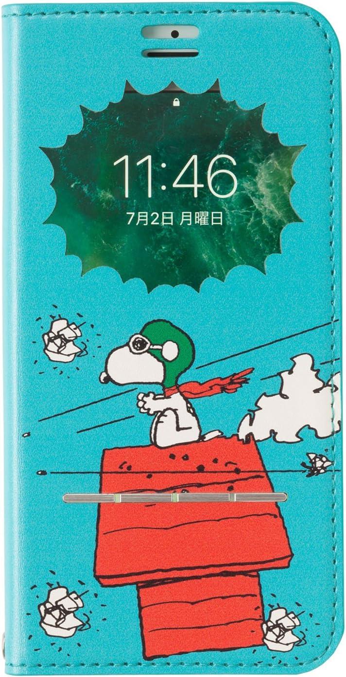 Amazon Peanuts スヌーピー Iphone8 7 6s 6 ケース 手帳型 窓付き