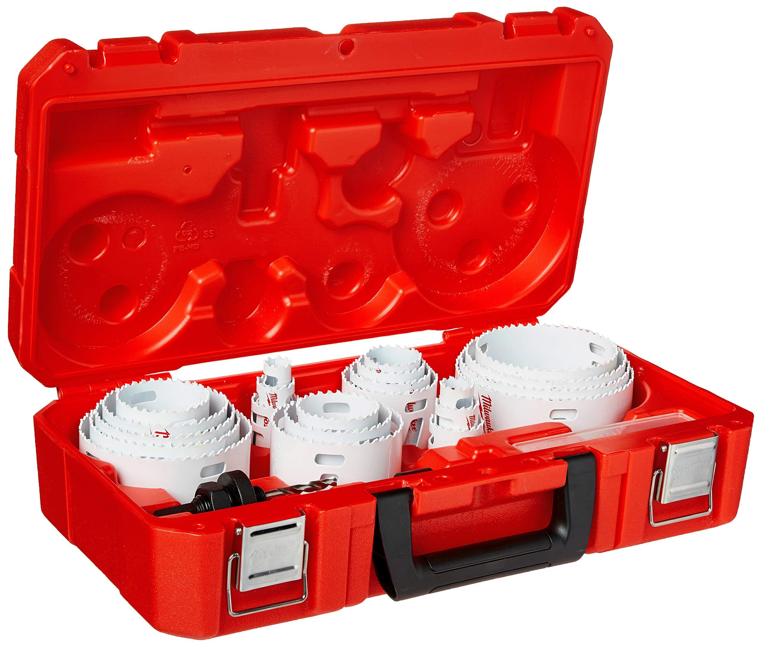 Milwaukee 49-22-4185 28-Piece All Purpose Professional Ice Hardened Hole Saw Kit by Milwaukee