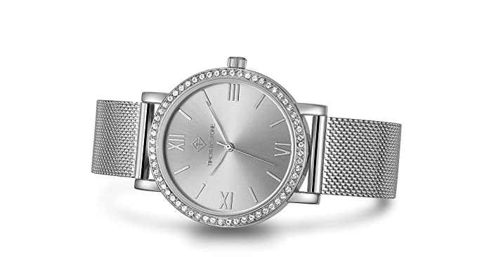 5c747820c3259 Timothy Stone - Collection INDIO - Montre Femme - Argent: Amazon.fr ...