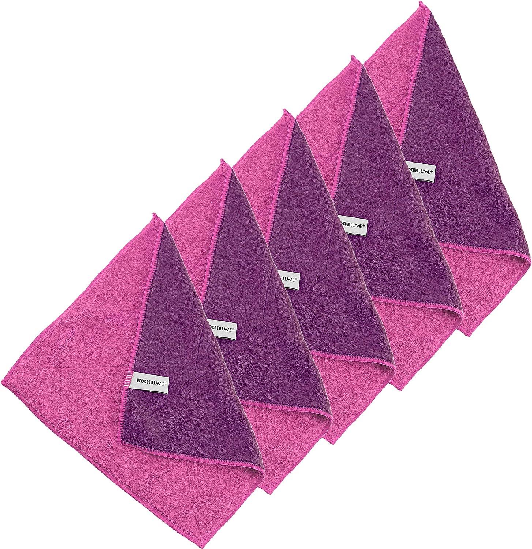 Kochblume 1 3 5 10er Set Microfasertuch Putztuch 30 X 30cm Aufnahmefähigeit Bis Ca 300 Ml Das Original Von Cooklife In Der Pinken Box Pink Lila 5er Set Küche Haushalt