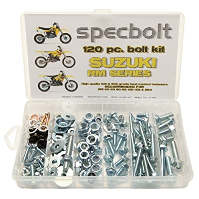 120pc Specbolt Suzuki RM Two Stroke Bolt Kit for Maintenance & Restoration of MX Dirtbike OEM Spec Fastener RM60 RM65 RM80 RM85 RM100 RM125 RM250 Models 60 65 80 85 100 125: Home Improvement