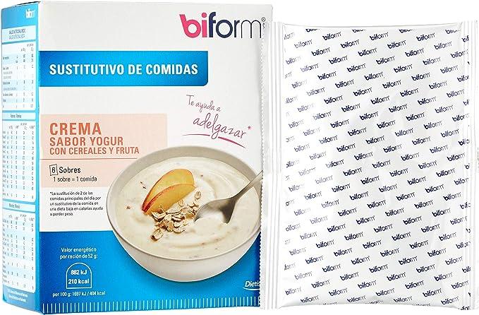 Biform Sustitutivo Crema Yogur con Cereales y Fruta para ...