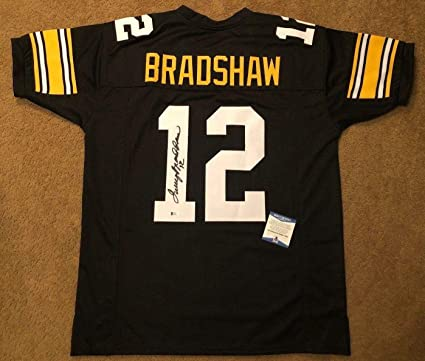 Terry Bradshaw Signed Jersey -  HOF  MVP BAS J70052 - Beckett Authentication  - Autographed 1bff8ce0c