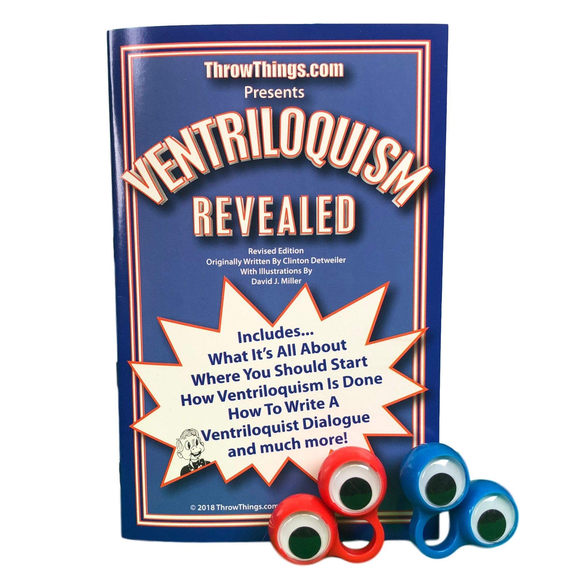 ThrowThings.com Bonus Bundle! Emmett Kelly Jr Ventriloquist Dummy Doll PLUS Ventriloquism Revealed Booklet PLUS Two Finger gEyes by ThrowThings.com (Image #2)