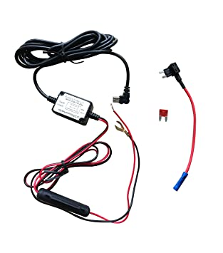 Dash Camera Hard Wire Kit- Mini USB Dash Cam 10 Foot Hardwire and Fuse on