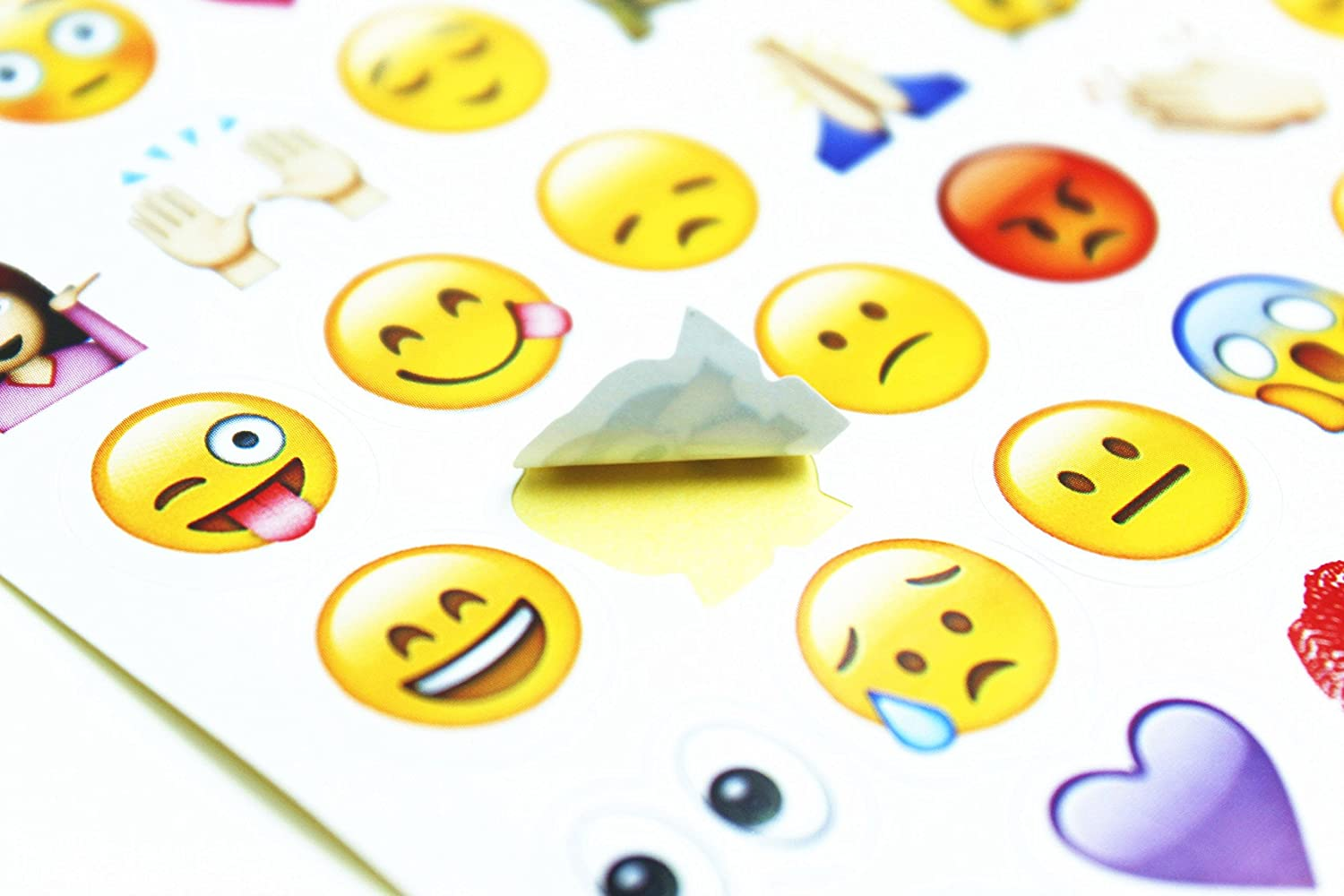Amazon happy emoji stickers 19 sheets with emojis faces kid amazon happy emoji stickers 19 sheets with emojis faces kid stickers from iphone facebook twitter toys games biocorpaavc Images
