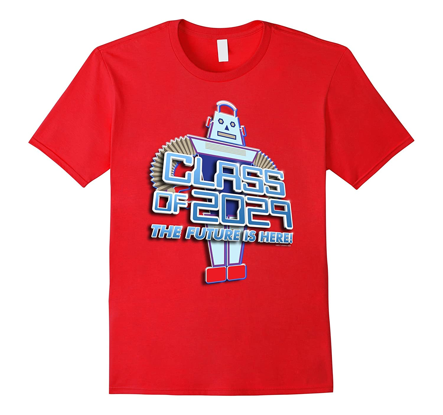 1st Grade TShirt: Class of 2029 Tee Robot Back to School-CL