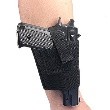 Verdeckter Universal Schwarz Carry Knöchel Bein Pistole Gun Holster