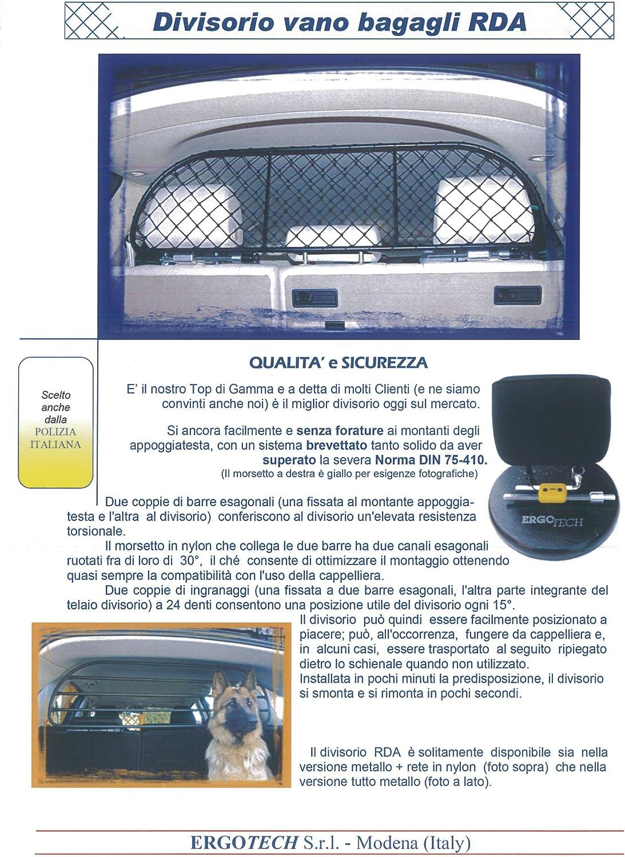 Confortable pour Votre Chien Garantie! S/ûr ERGOTECH Filet Grille de s/éparation Coffre RDA65-HXXS pour Chiens et Bagage