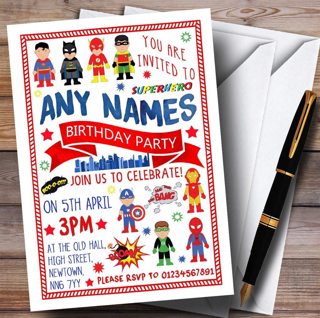 Cómic de superhéroes para niños fiesta de cumpleaños ...