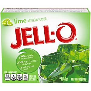 Jell-O Lime Gelatin Mix (6 oz Boxes, Pack of 6)