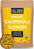 Organic Calendula Flowers - Whole - 4oz Resealable Bag - 100% Raw From Egypt - by Feel Good Organics