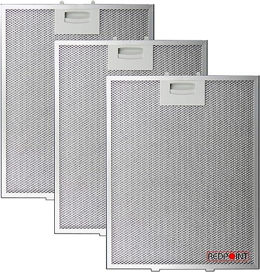Kit de 3 piezas. Filtros de aluminio para campanas Bosch 250 x 311 x 8 mm.: Amazon.es: Hogar