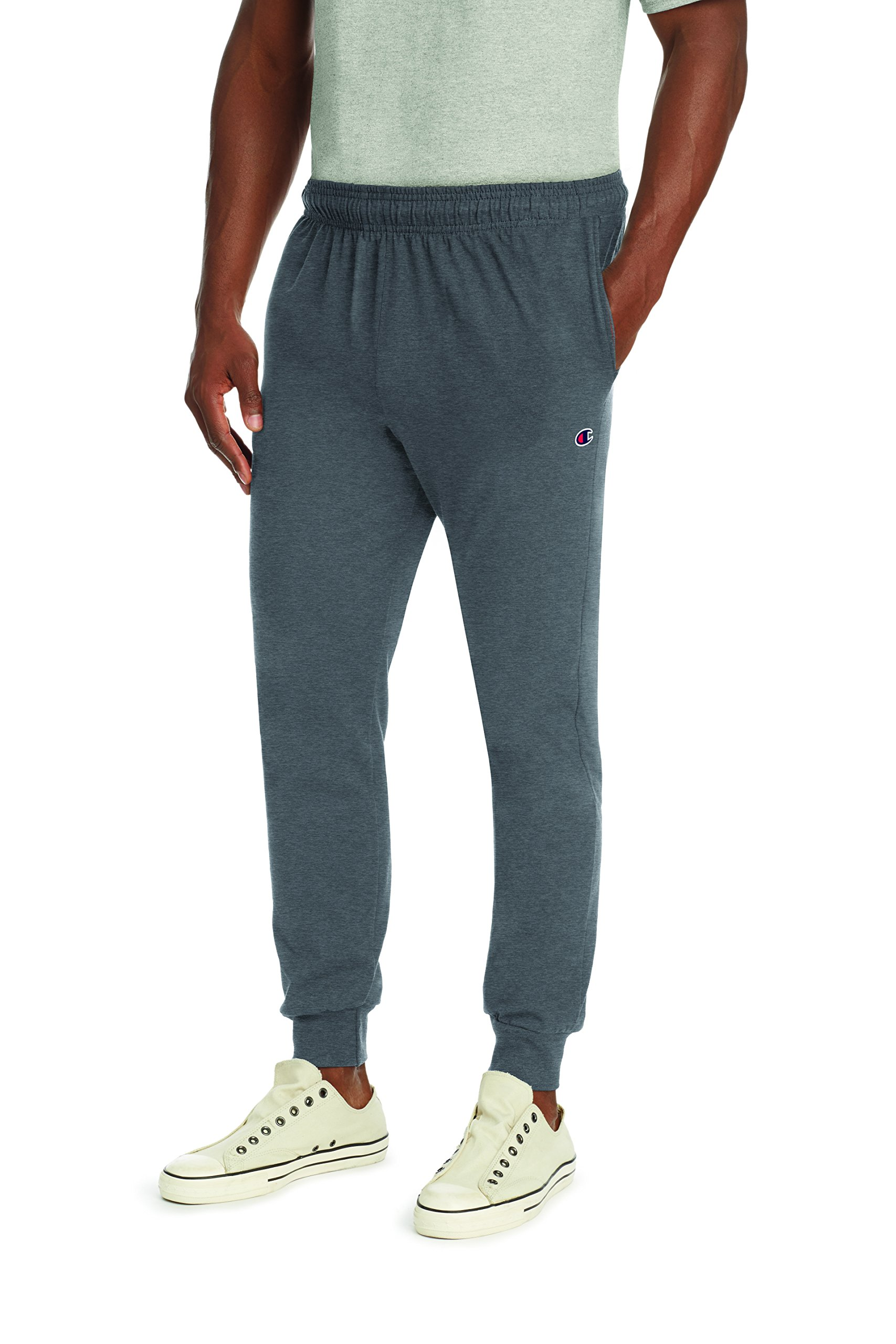 Champion Men's Jersey Jogger, Granite Heather, M by Champion