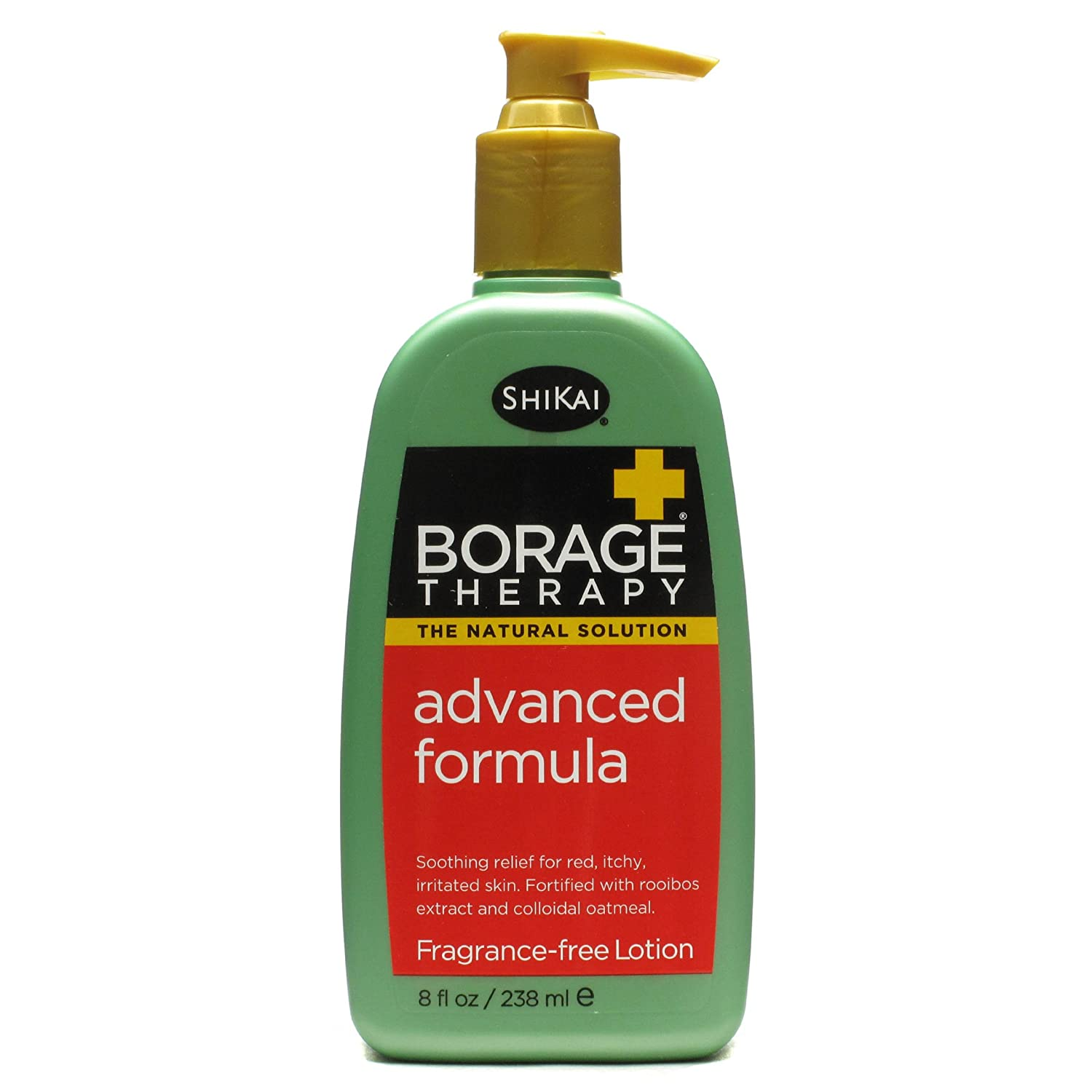 ShiKai - Borage Therapy Advanced Formula Lotion Dry Skin Lotion, Soothing & Moisturizing Relief For Dry, Irritated & Itchy Skin, Non-Greasy, Sensitive Skin Friendly (Fragrance-Free, 8 Ounces)