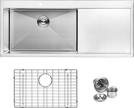 Bai 1233 Stainless Steel 16 Gauge Kitchen Sink Handmade 48 Inch